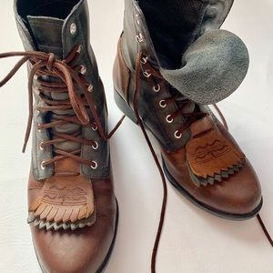 Ariat Heritage II Lace Up Boot Two Tone/EUC
